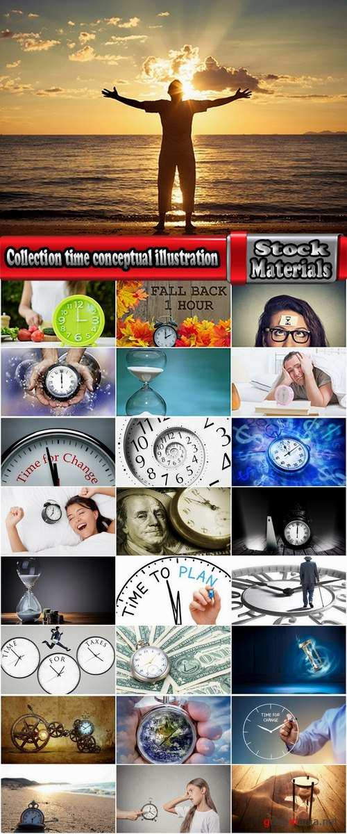 Collection time conceptual illustration of a clock dial is 25 HQ Jpeg