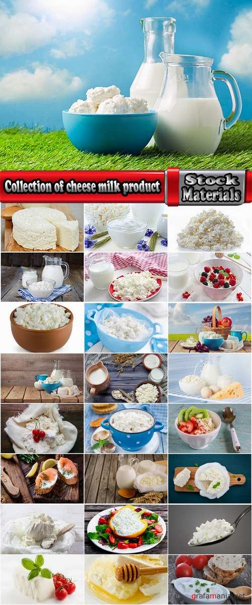 Collection of cheese milk product milk sour milk 25 HQ Jpeg
