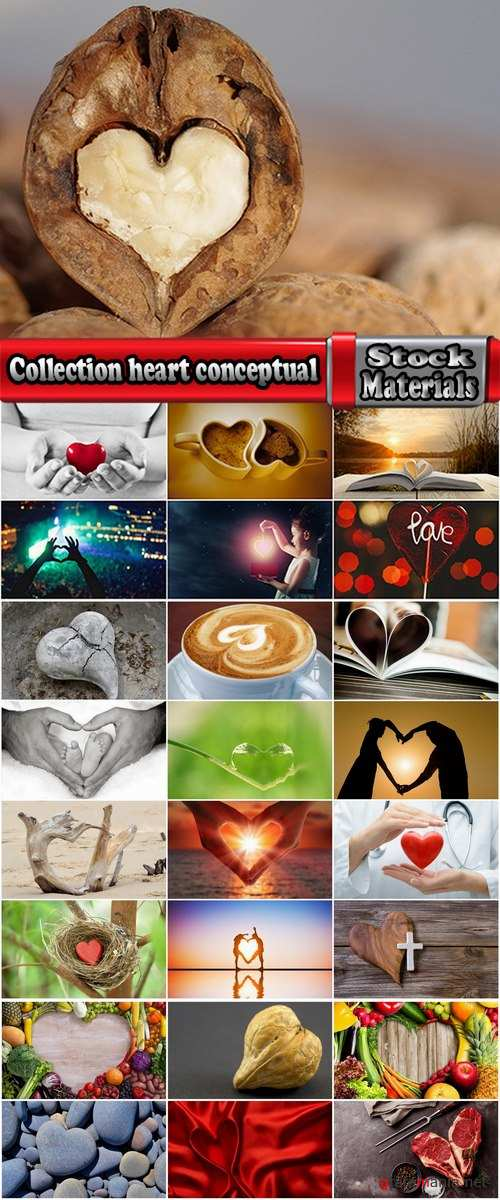 Collection heart conceptual illustration 25 HQ Jpeg
