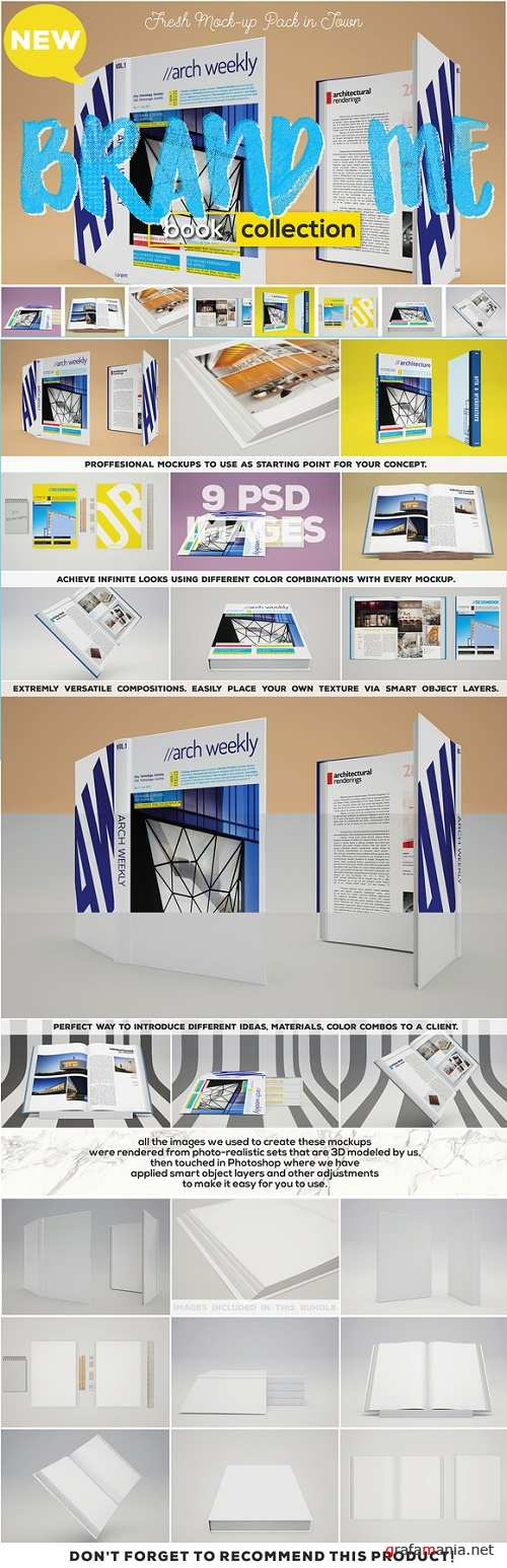 Brand Me - Book Mock-up Collection - 722142