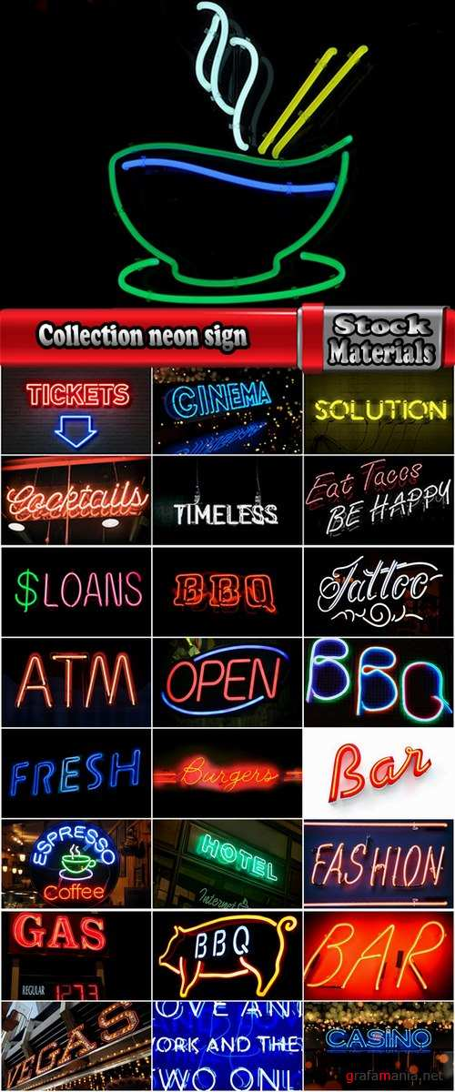 Collection neon sign filament inert gas 25 HQ Jpeg