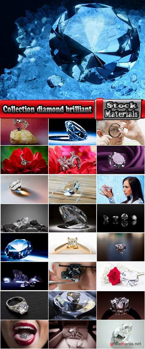 Collection diamond brilliant gem jewelry ring frame 25 HQ Jpeg
