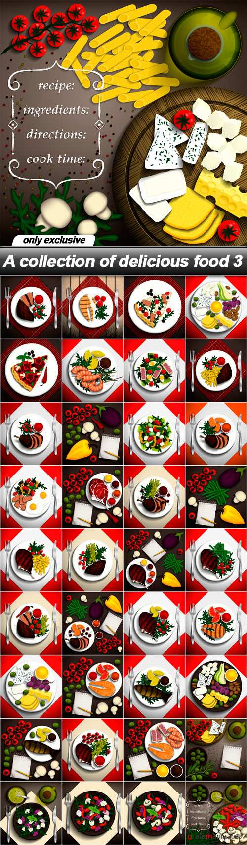 A collection of delicious food 3