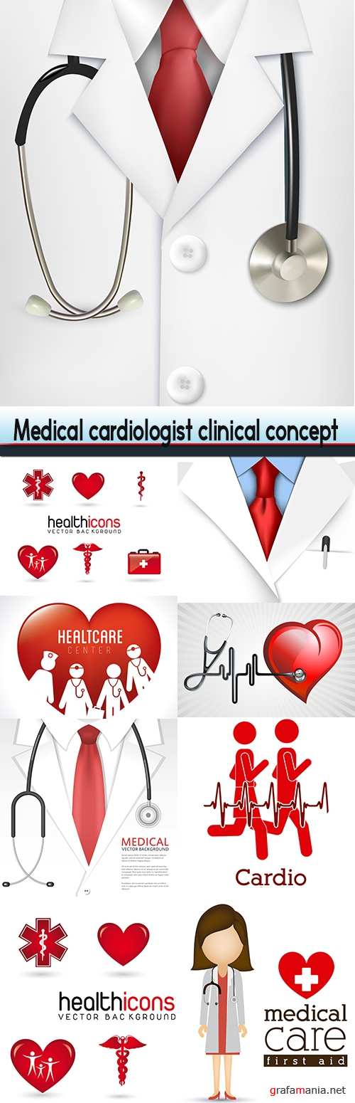 Medical cardiologist clinical concept