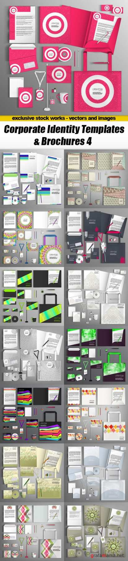 Corporate Identity Templates & Brochures 4 - 15xEPS