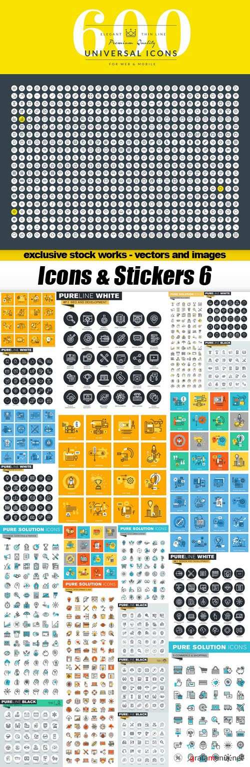 Icons & Stickers 6 - 22xEPS