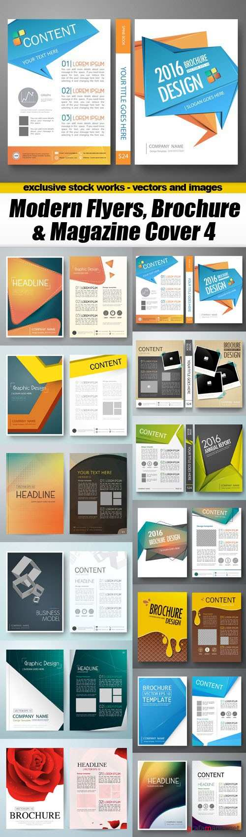 Modern Flyers, Brochure & Magazine Cover 4 - 13xEPS