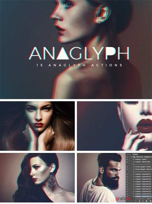 Anaglyph Photoshop Actions V2 - 715332