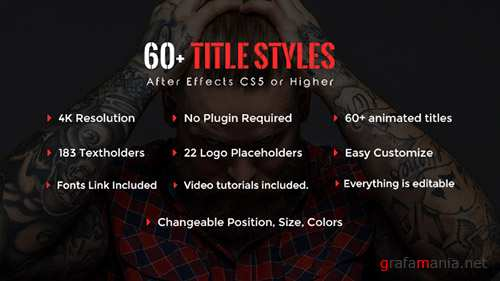 SixtyPlus - 60+ Title Styles - Project for After Effects (Videohive)