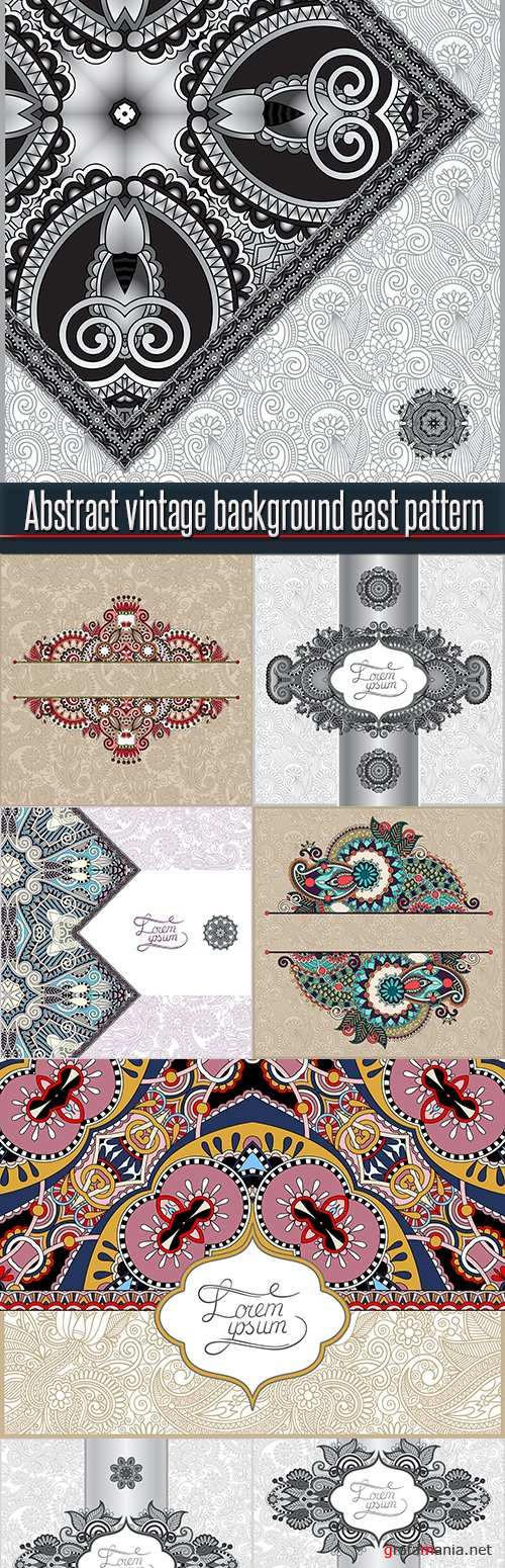 Abstract vintage background east pattern
