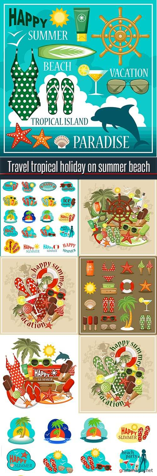 Travel tropical holiday on summer beach