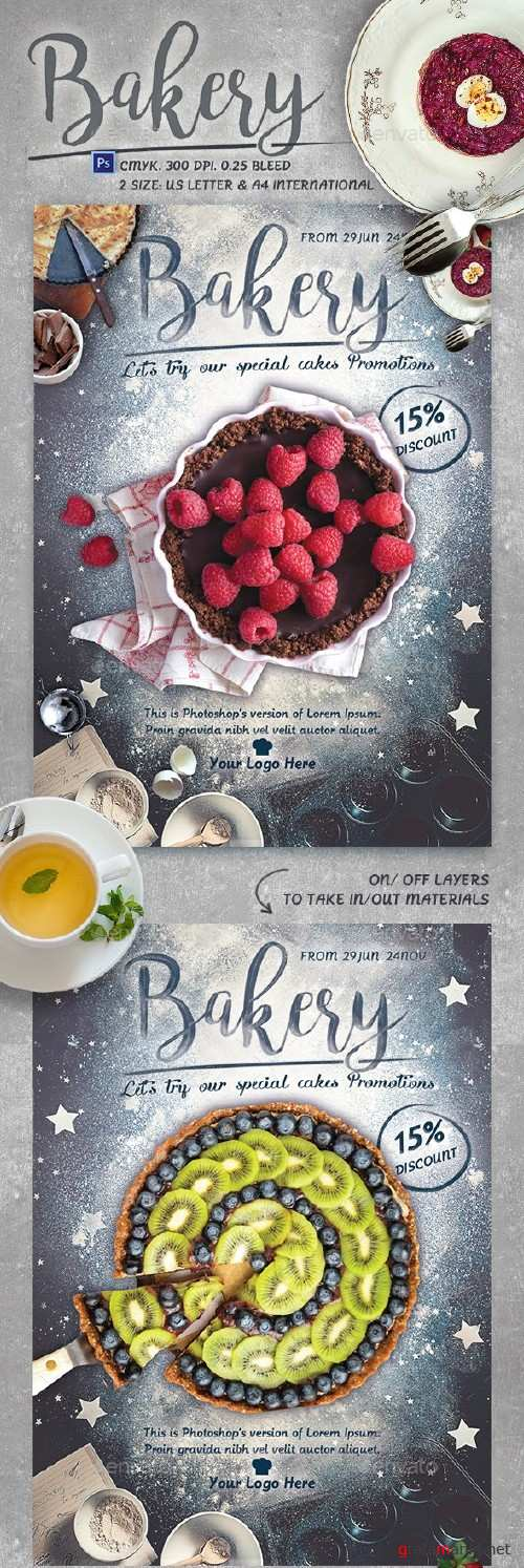Bakery Promotion Flyer Template - 15854476