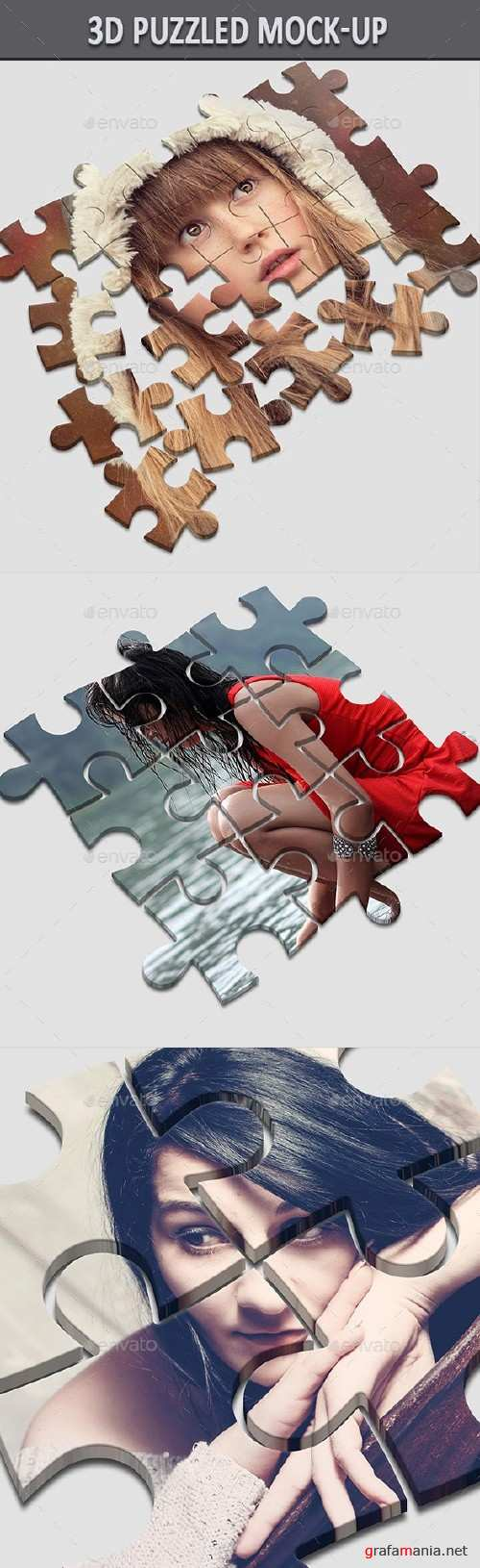 3D Puzzled Mock-Up - 16721278