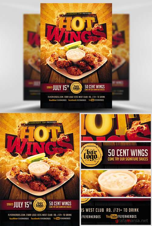Flyer Template - Hot Wings