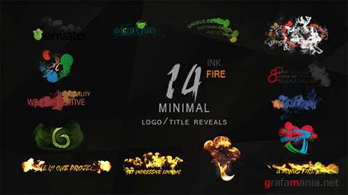 Minimal Ink&fire Logo/Title Reveals Package - Project for After Effects (Videohive)