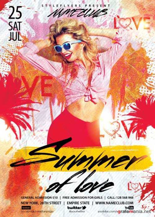 Summer Of Love V1 PSD Flyer Template