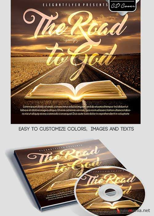 The road to God CD Cover PSD Template