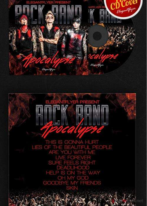 Rock Band CD Cover PSD Template