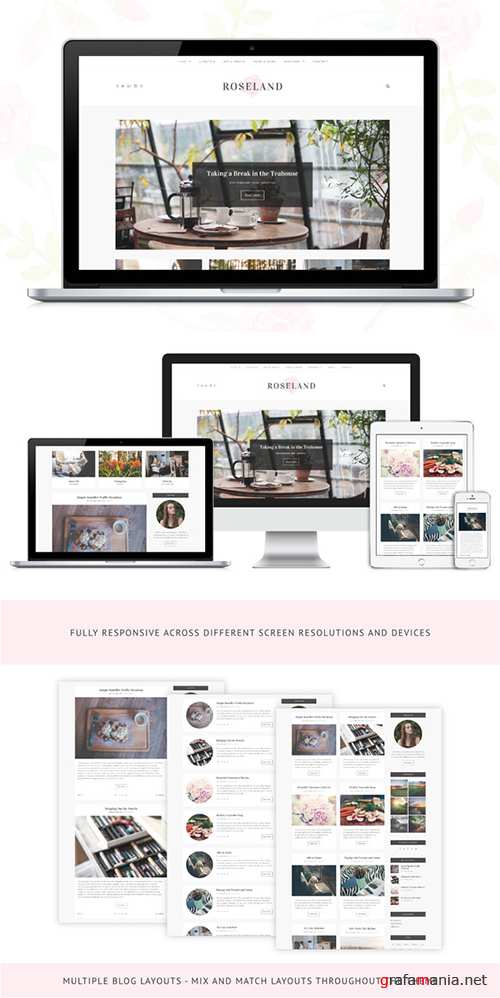 Roseland v1.0.1 - A Beautiful WP Blog - Creativemarket 528119