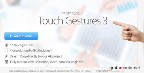 Professional Touch Gestures 4K - Project for After Effects (Videohive)
