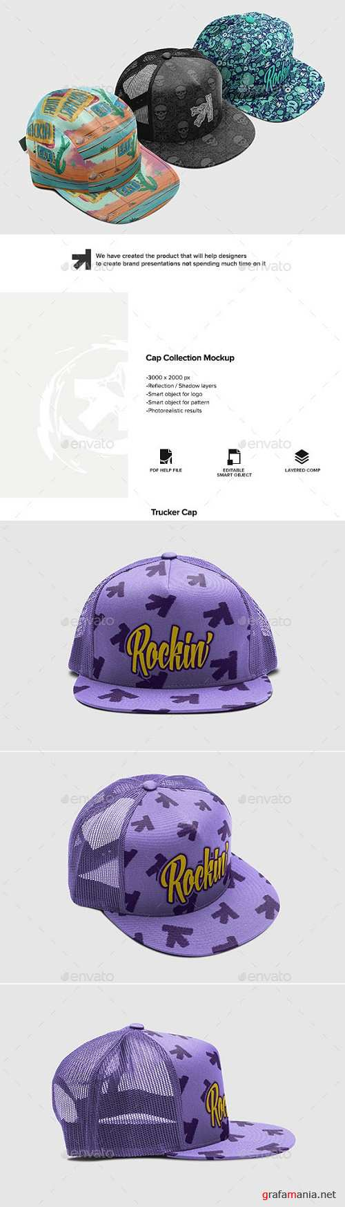 Cap Collection Mockup - 16727036