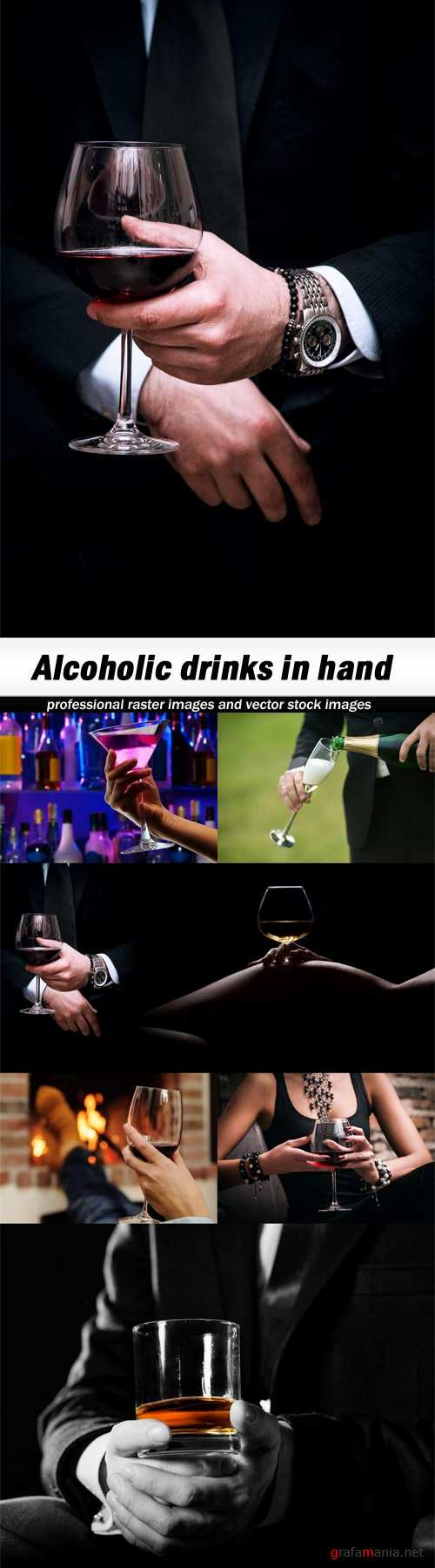Alcoholic drinks in hand-7xUHQ JPEG