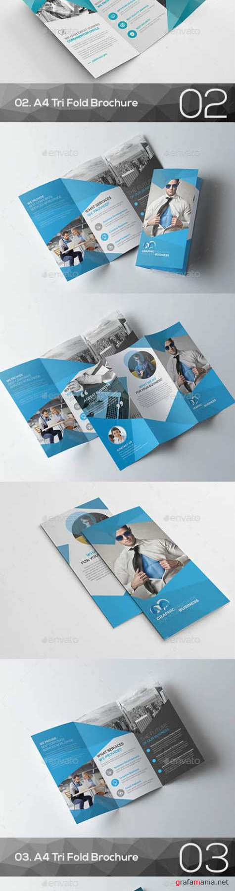 Corporate Tri Fold Brochure Bundle 16266534
