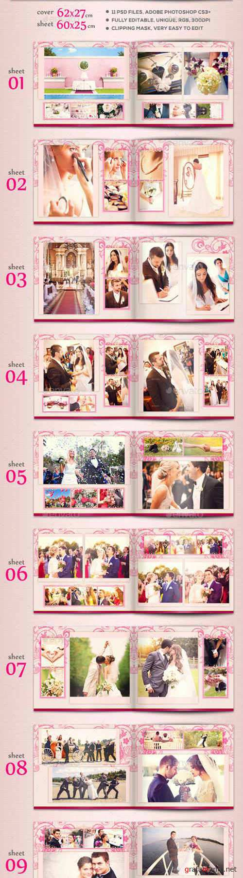 Elegant Wedding Album Template 16105470