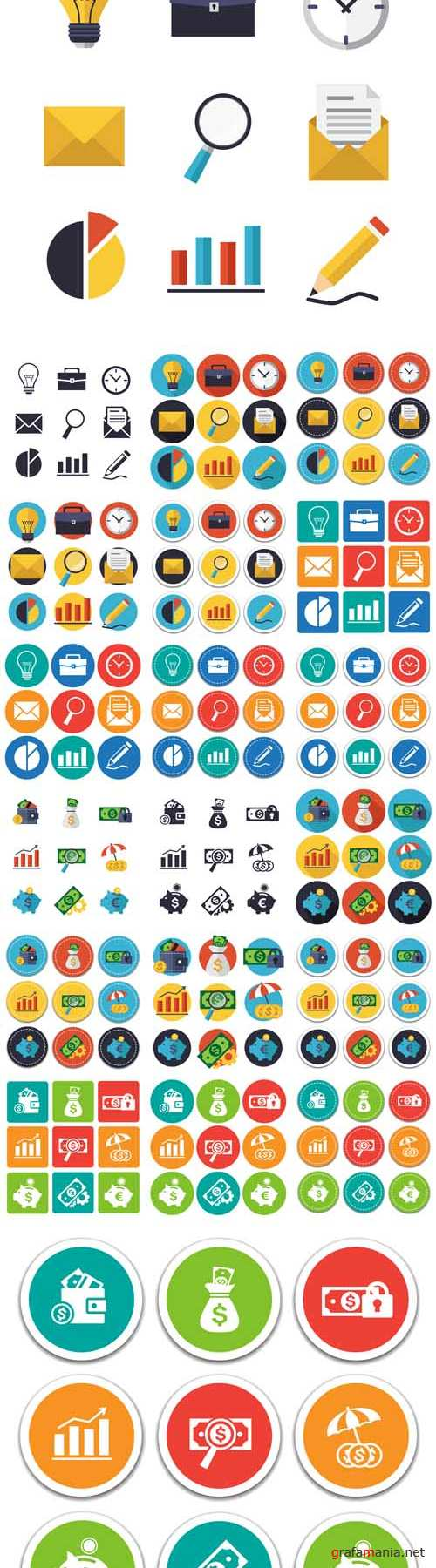 Vector Finance Banking and Business Icons