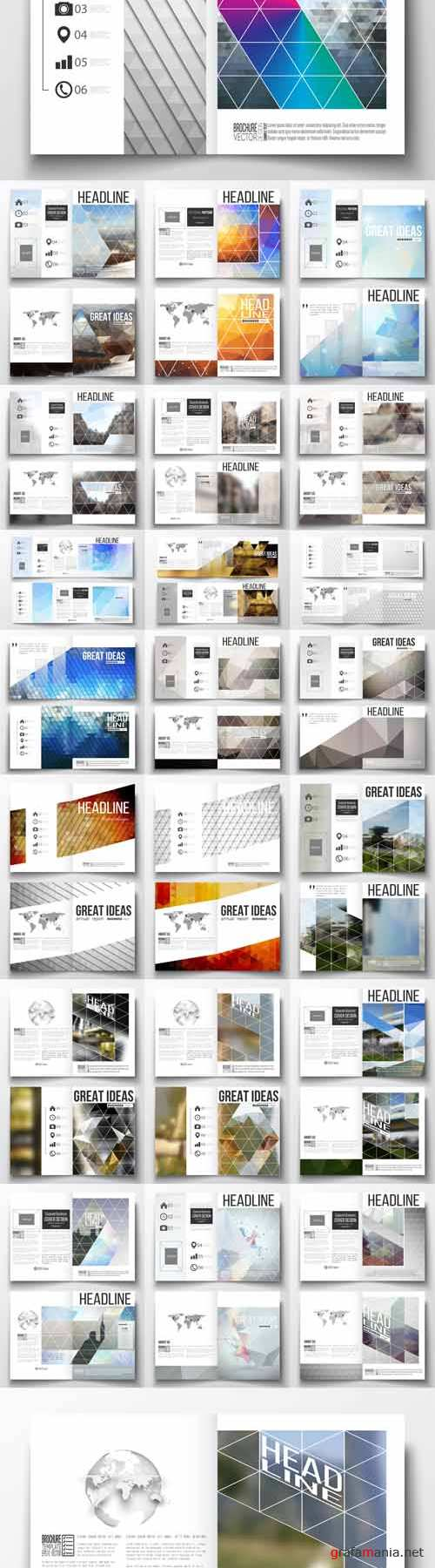 Vector 24 Business Templates for Brochure Magazine Vol 2