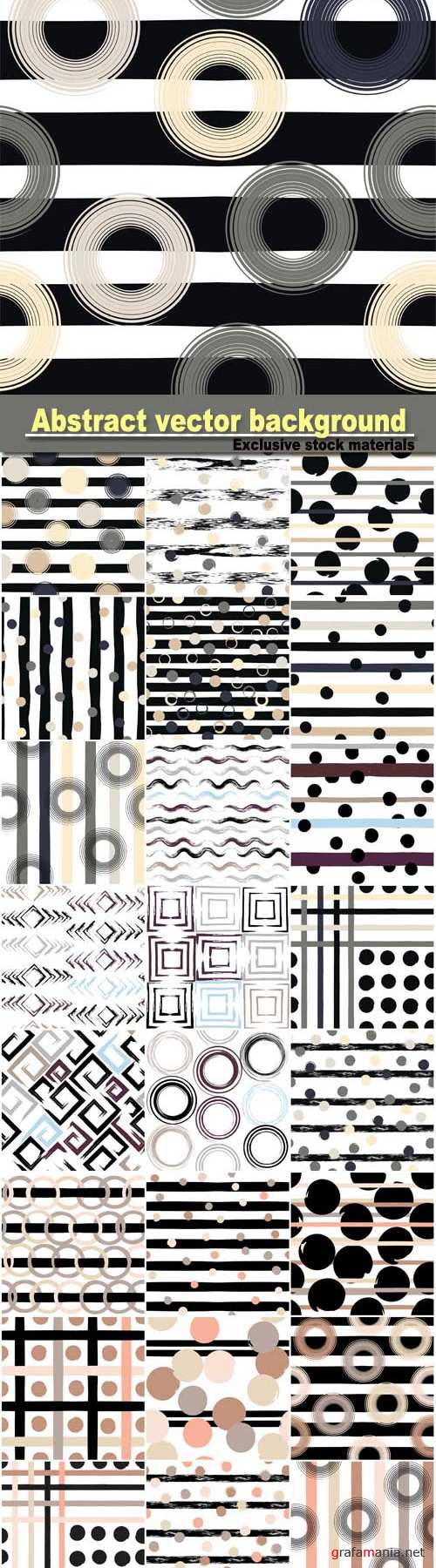 Abstract vector background with circles and squares