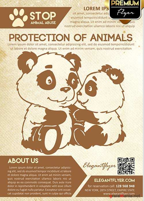 Protection of animals Flyer PSD Template + Facebook Cover