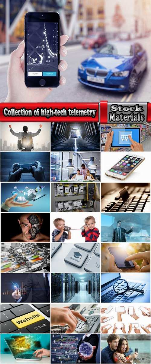 Collection of high-tech nanotechnology telemetry communication computer connection 25 HQ Jpeg