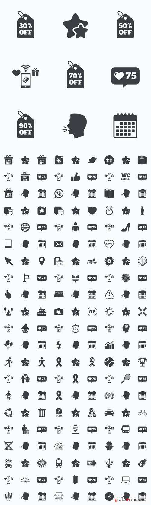 Vector Different Black Icons