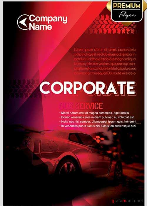 Corporate V02 Flyer PSD Template + Facebook Cover