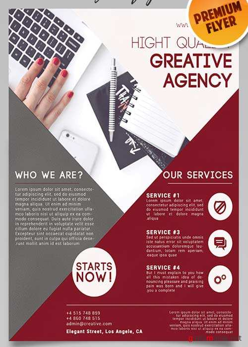 Creative Agency Flyer PSD Template + Facebook Cover