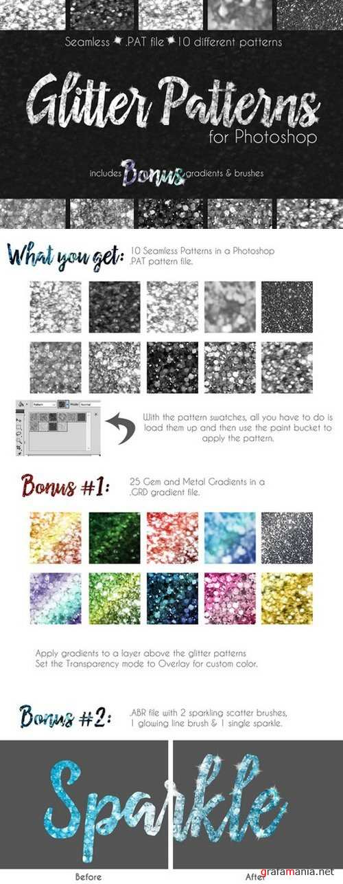 Glitter Texture Patterns Photoshop - 784987