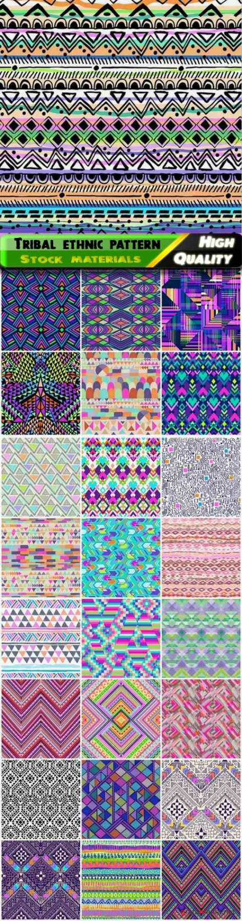 Tribal ethnic seamless Indian pattern and boho style ornament - 25 Eps