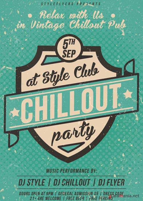 Chillout Party V5 PSD Flyer Template + Facebook Cover