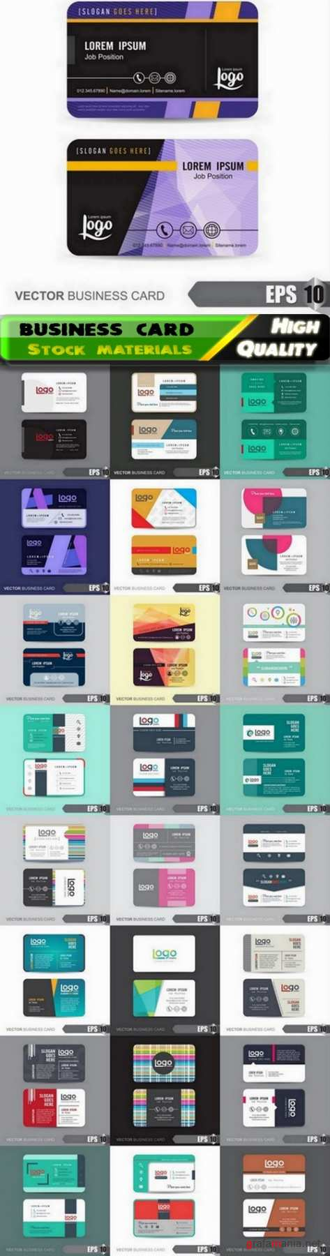 Simple business card and corporate template design - 25 Eps