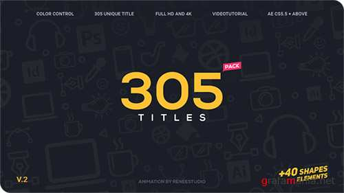 305 Titles Ultimate Pack - Project for After Effects (Videohive)