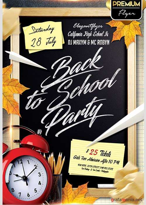 Back to School V02 Flyer PSD Template + Facebook Cover