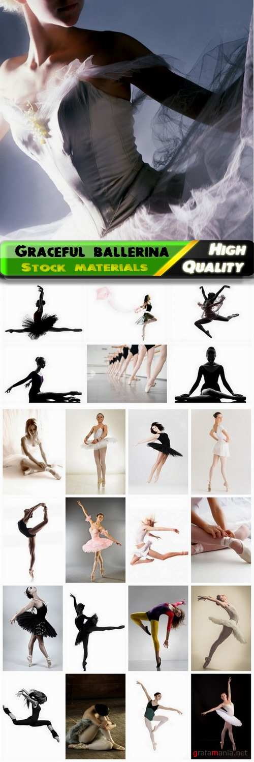 Graceful ballerina and flexible dancer in motion - 25 HQ Jpg