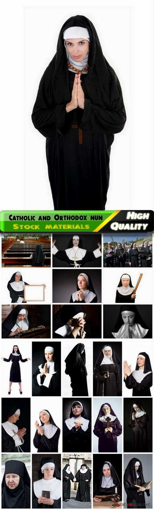 Catholic and Orthodox nun in a black cassock - 25 HQ Jpg