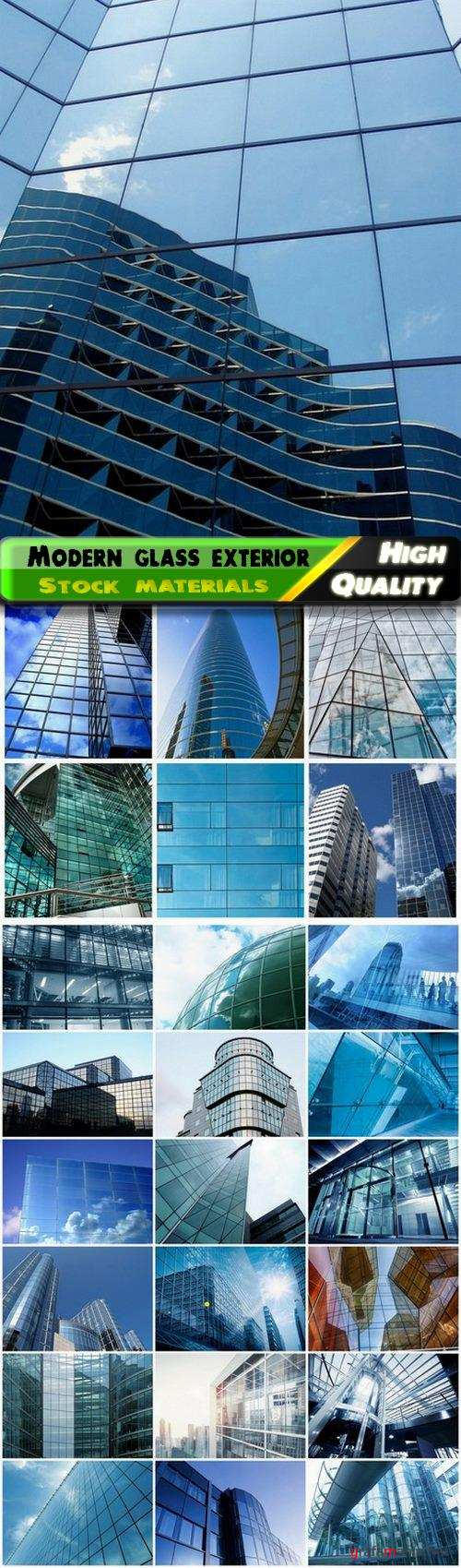 Modern exterior of glass building and office skyscraper - 25 HQ Jpg