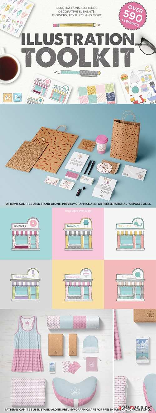 Logo Toolkit - Over 590 Elements - 736145