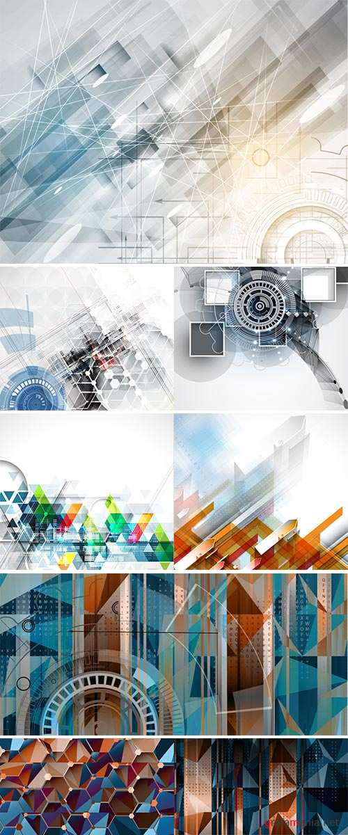 Stock Technology abstract background Vector