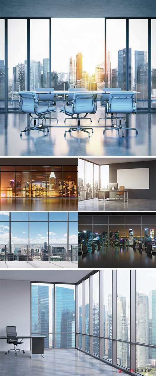 Stock Image Empty spacious office in a skyscraper