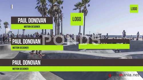 Simple Lower Thirds - After Effects Template