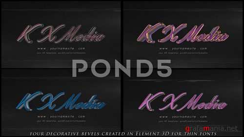 Classic Chrome 3D Logo - After Effects Template